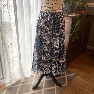 Pretty 💙Boho ruffle💙hi-lo skirt